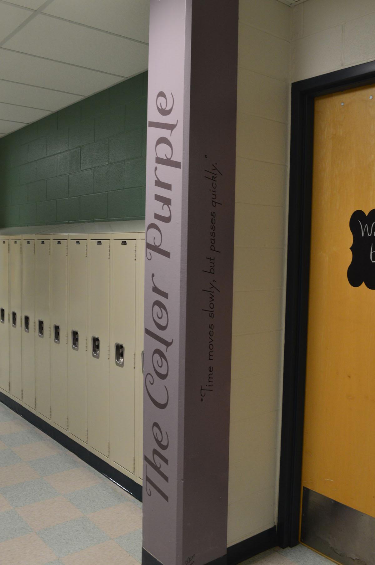 The Color Purple mural