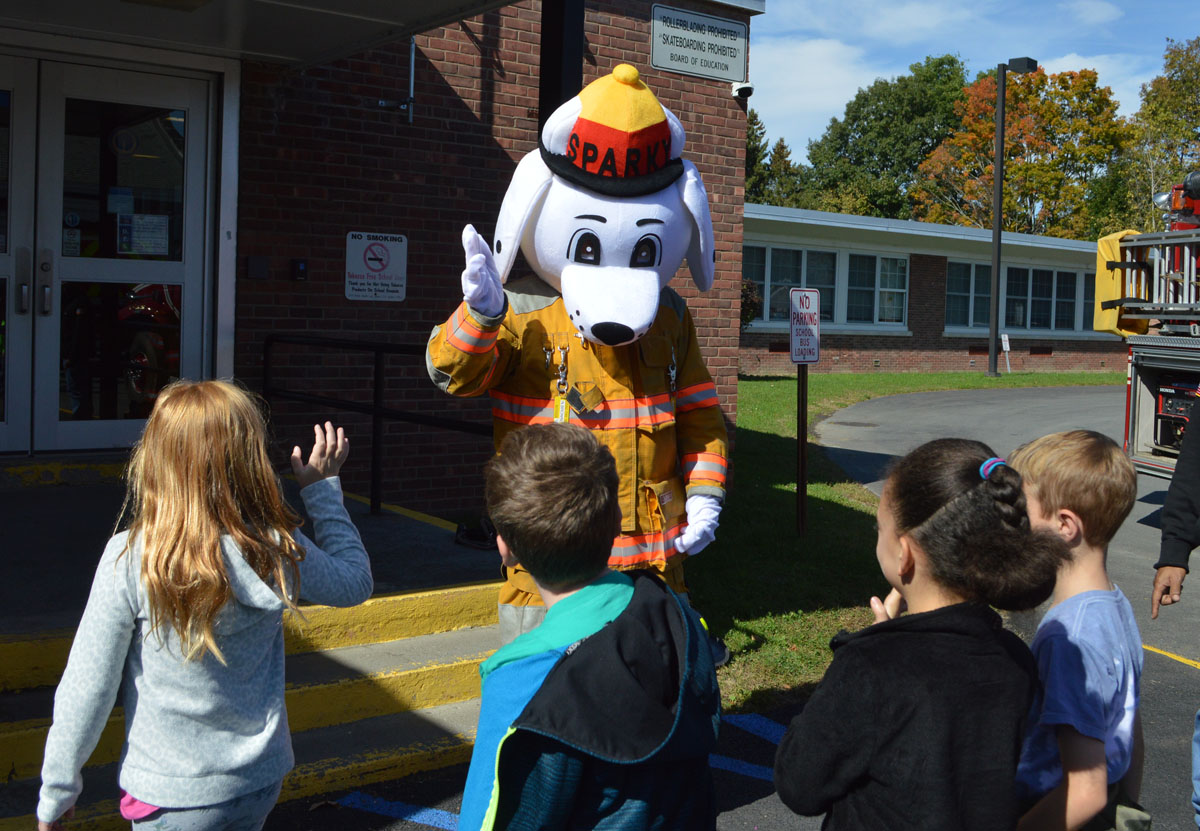 Students at Fire Prevention Day