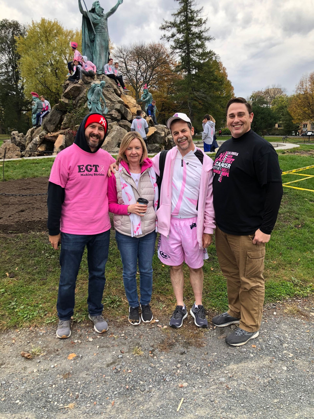 EGTA and SRP union members walking in Making Strides event at Washington Park