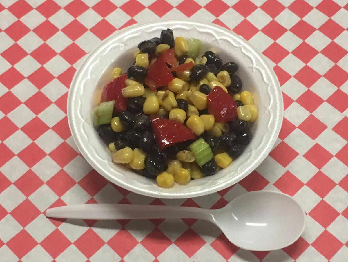 Vegan black bean and corn salad