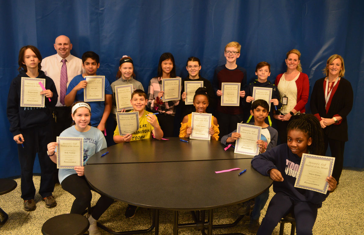 7th Grade Goff Students of the Month