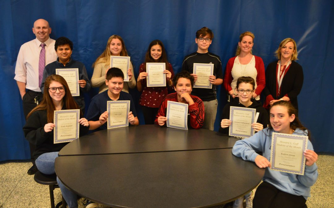 Goff Honors October Students of the Month