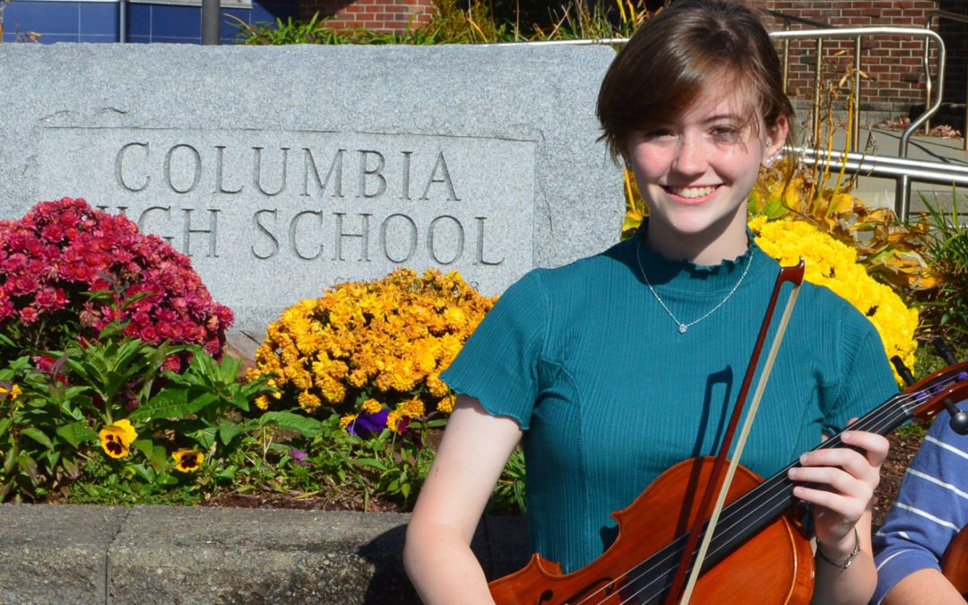 Columbia Viola Player Performing with ESYO's Symphony Orchestra