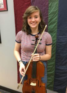 Allison Headley holding viola