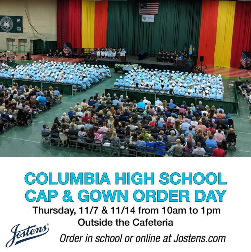 Columbia Cap and Gown email flyer