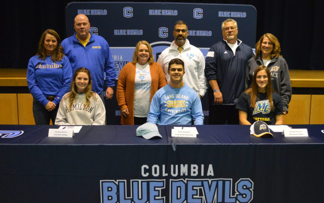 Three Columbia Blue Devils Make College Commitments