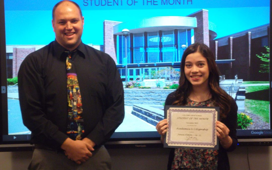 Columbia Announces November Students of the Month
