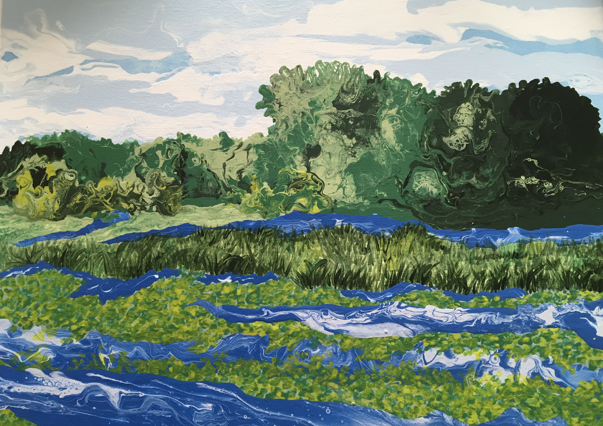 "Painting titled ""A View Along the Mohawk"" by art teacher Lisa Letourneau"