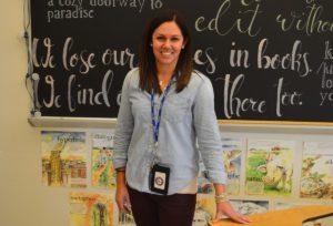 Nicole Weiss in her classroom