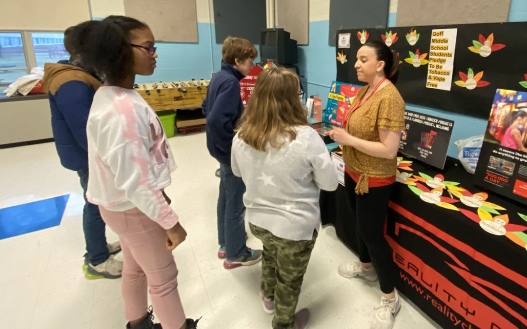 Goff Middle School Participates in Great American Smokeout