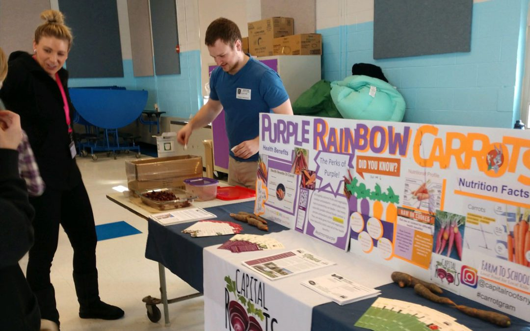 Capital Roots Offers Carrot Tasting at Goff Middle School