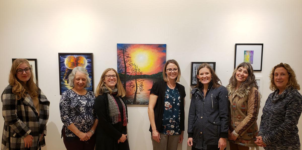 Faculty Art Show group photo