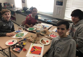 Students paint Mexican Talavera Tiles