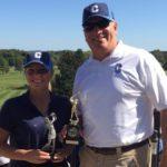 Schuyler Lorette with golf coach Jim Obermayer
