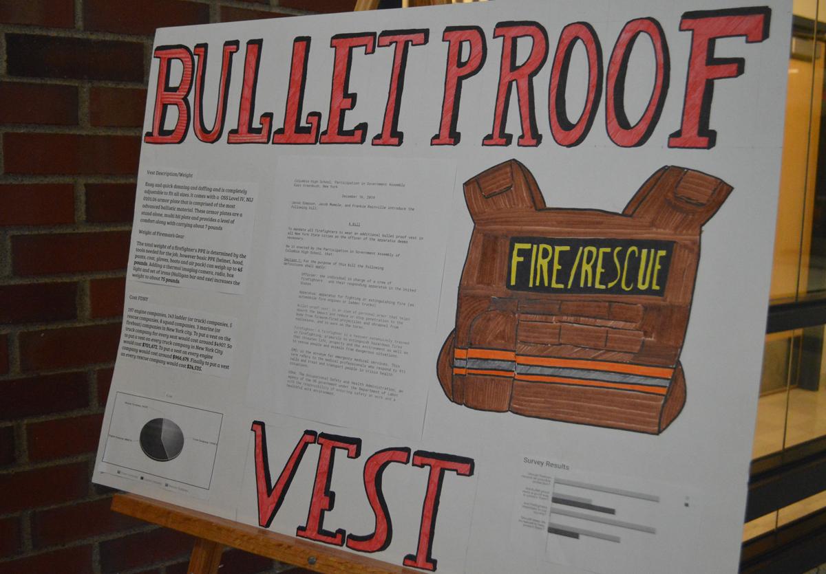 Bulletproof vests for Firefighters poster board
