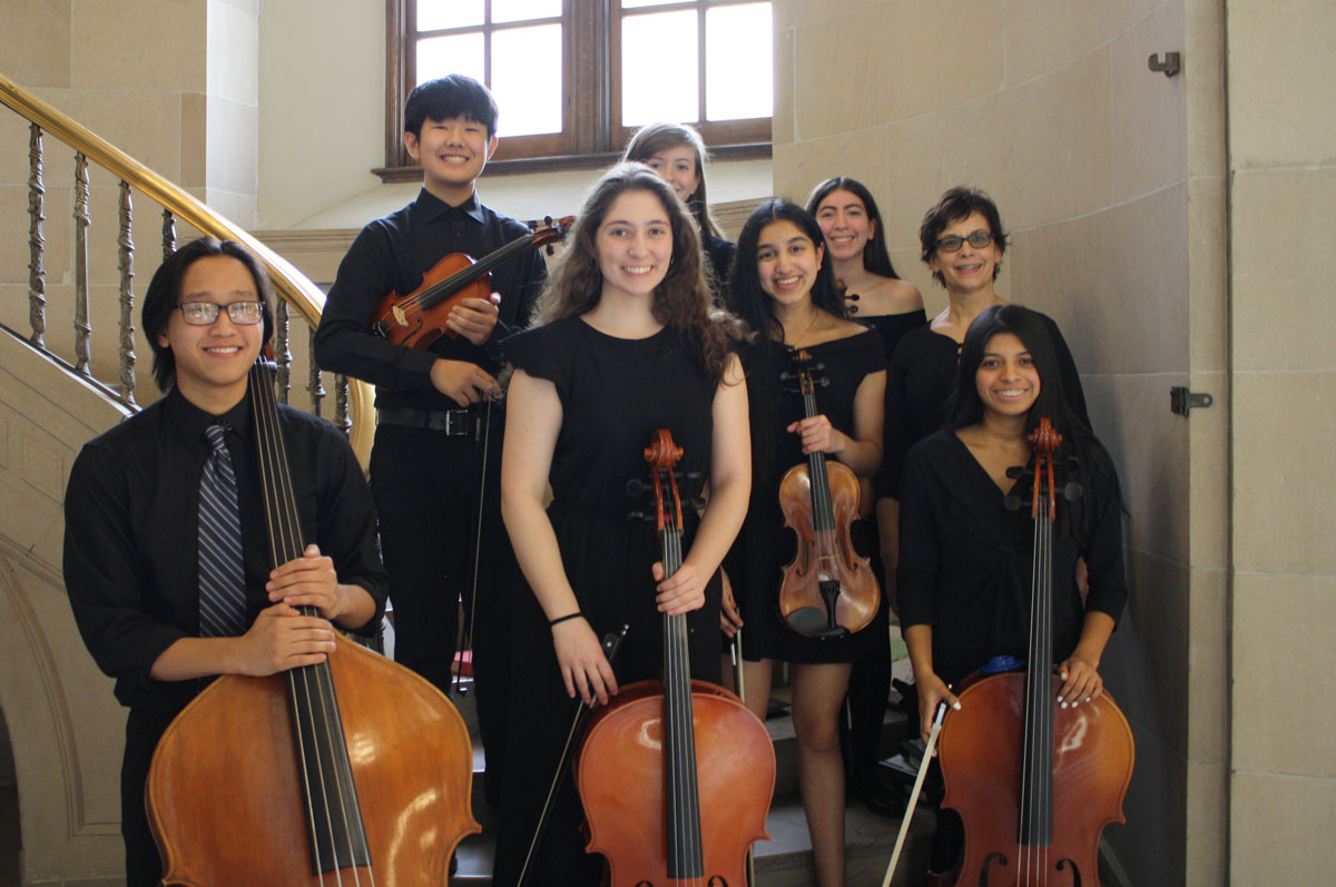 Columbia String Ensemble at State Education Department award ceremony
