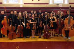 Columbia orchestra students at All County Winter Music Festival