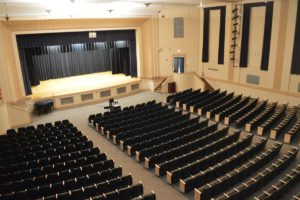 Genet Auditorium stage and seating