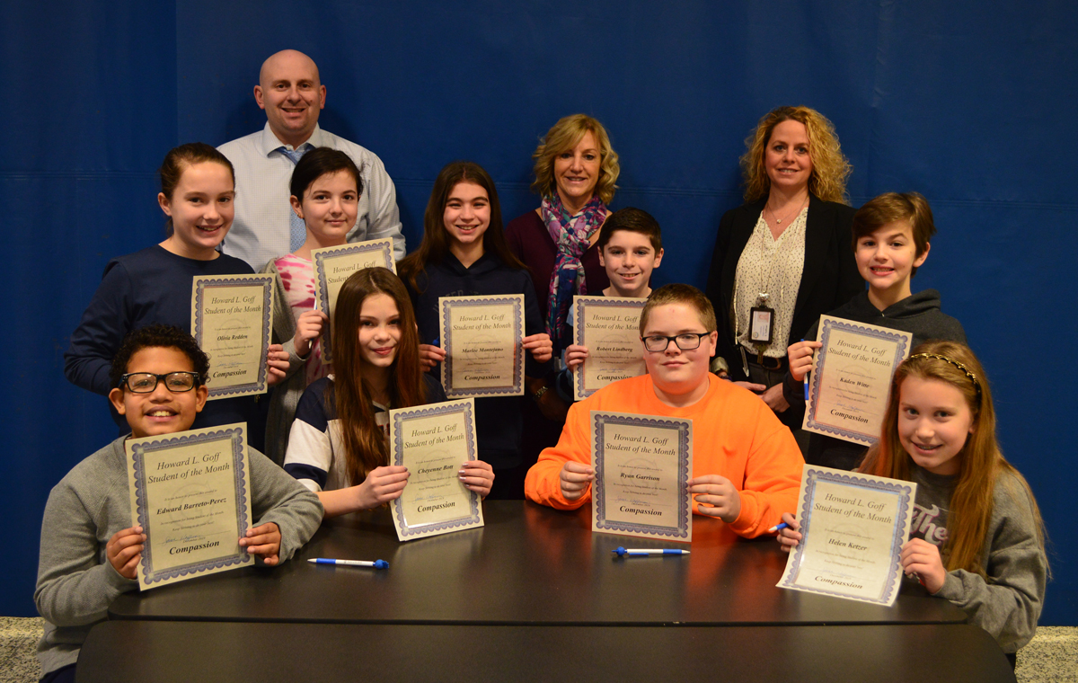 Goff 6th Grade Students of the Month