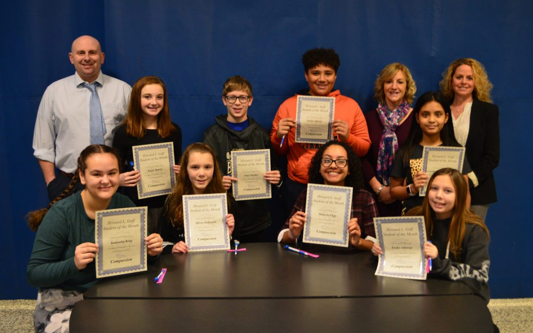 Goff Honors December Students of the Month