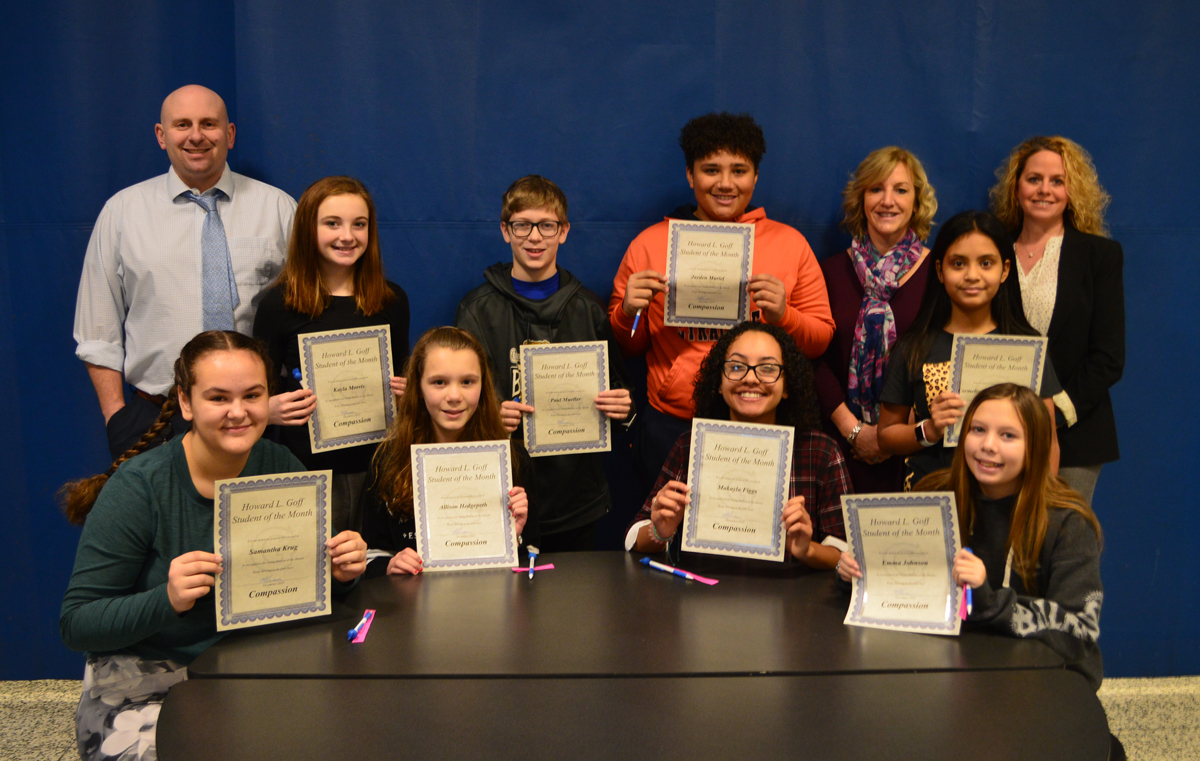Goff 8th Grade Students of the Month