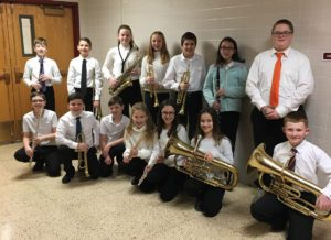 Goff band students at All County Winter Music Festival
