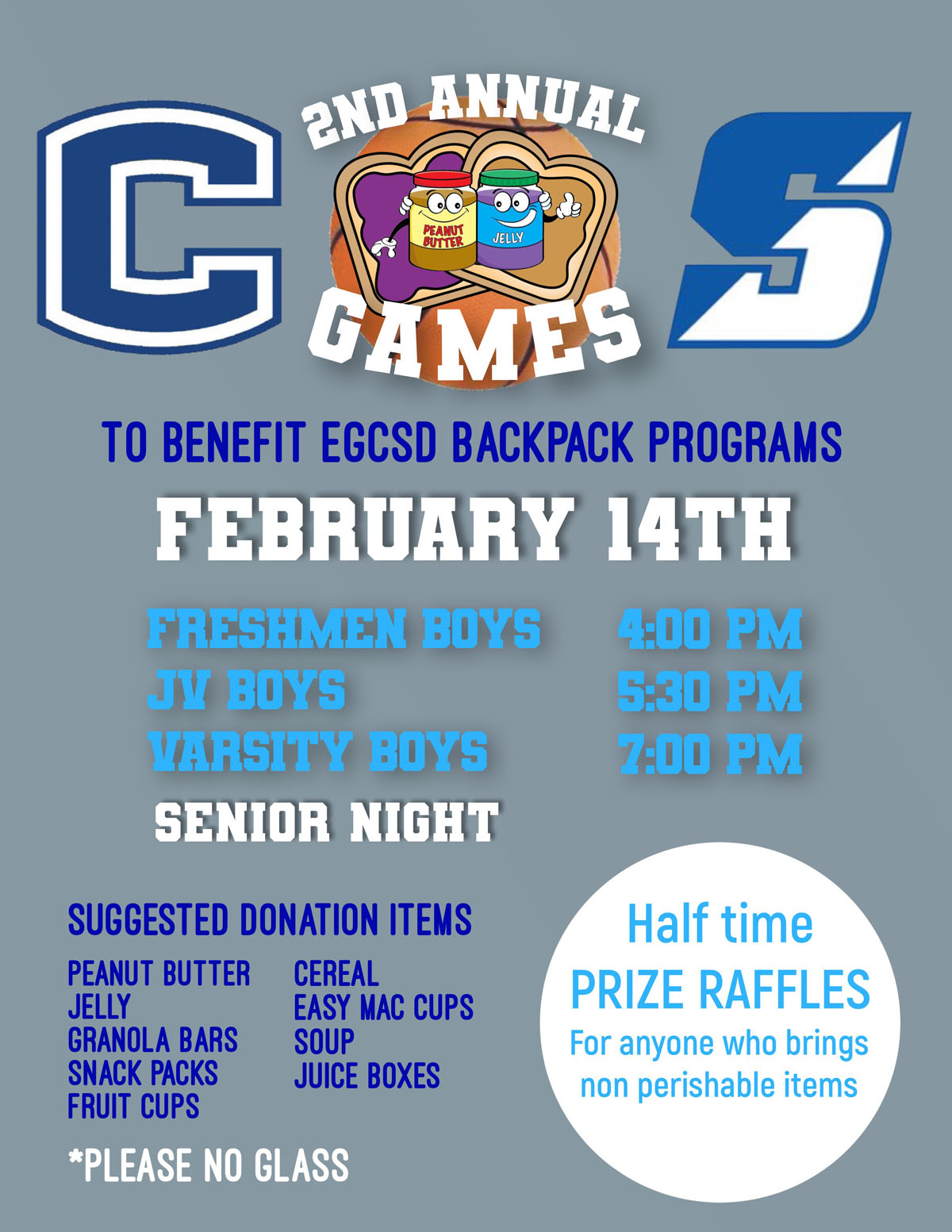 PB and J game flyer