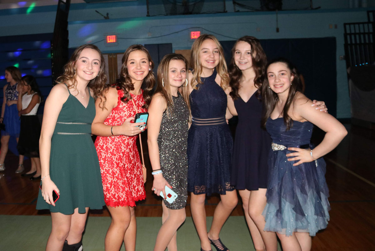 Students at the Goff Snowball Dance