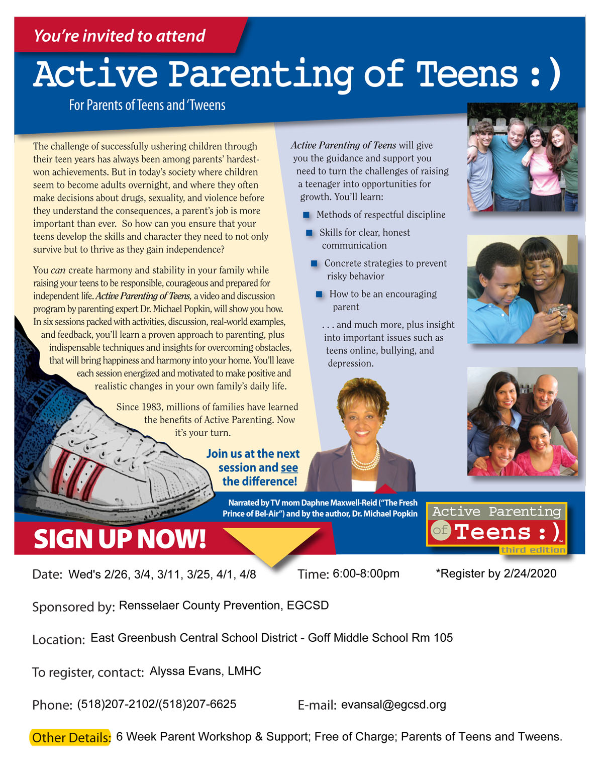Active Parenting flyer