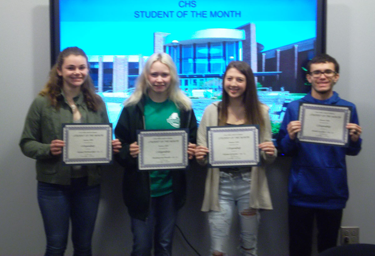 CHS students at Student of the Month