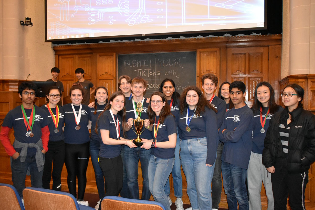 Columbia Science Olympiad team at Yale Invitational