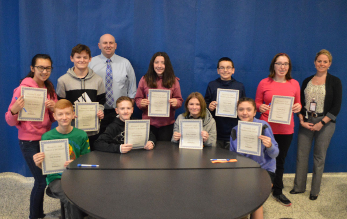 Goff 8th Grade Students of the Month for January 2020
