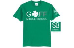St. Baldrick's green t-shirt