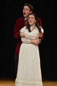 """Meaghan Almon and Eli Wein performing together at a dress rehearsal for """"The Secret Garden."""""""