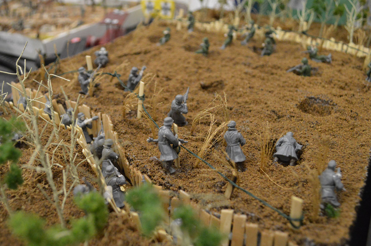 Model of WWI battle