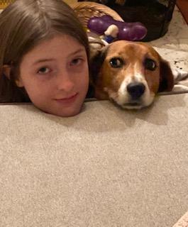 Caroline D with Buddy