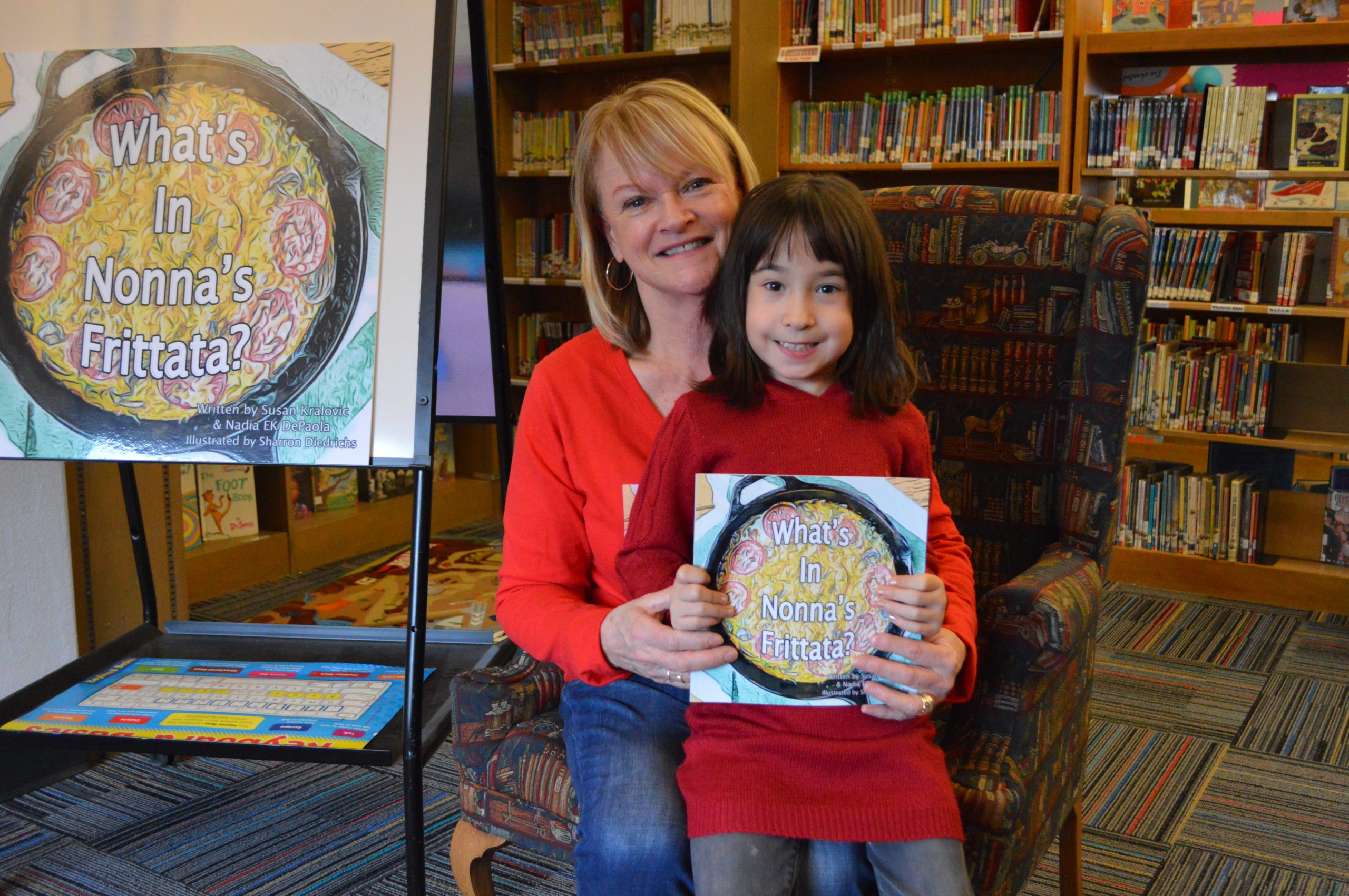 Author with her niece at Bell Top