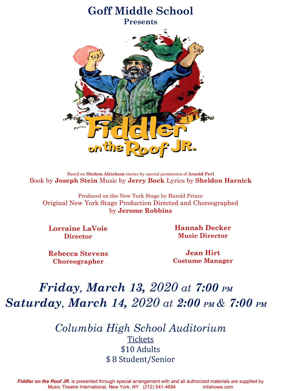 Fiddler on the Roof flyer