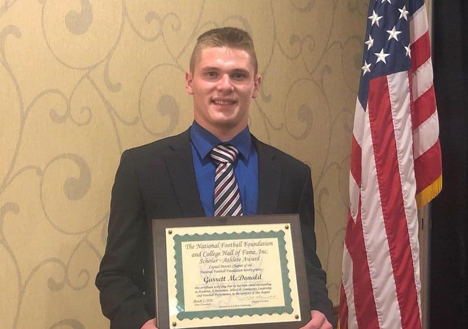 Garrett McDonald Receives Scholar Athlete Award