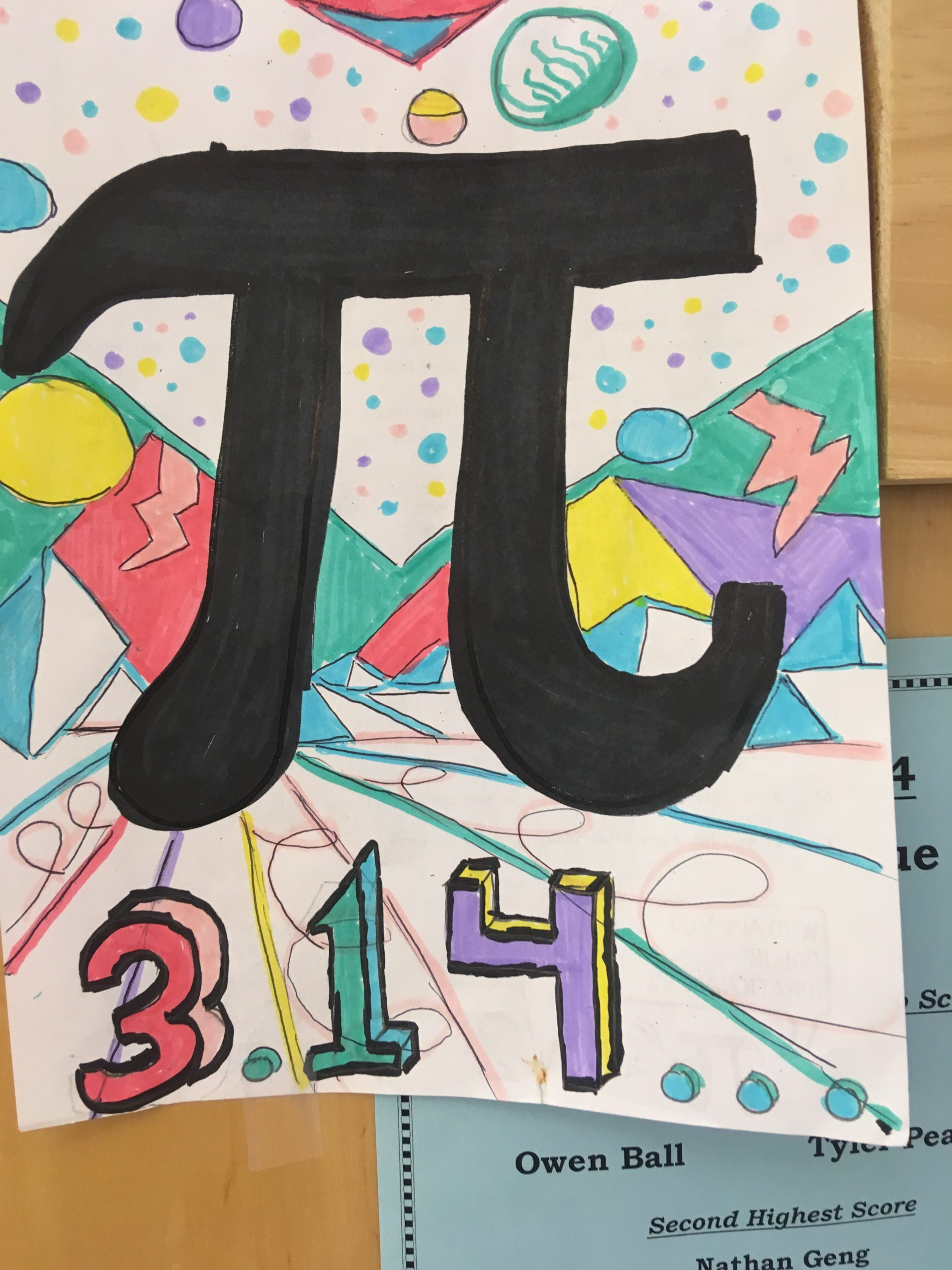 Pi Day decoration