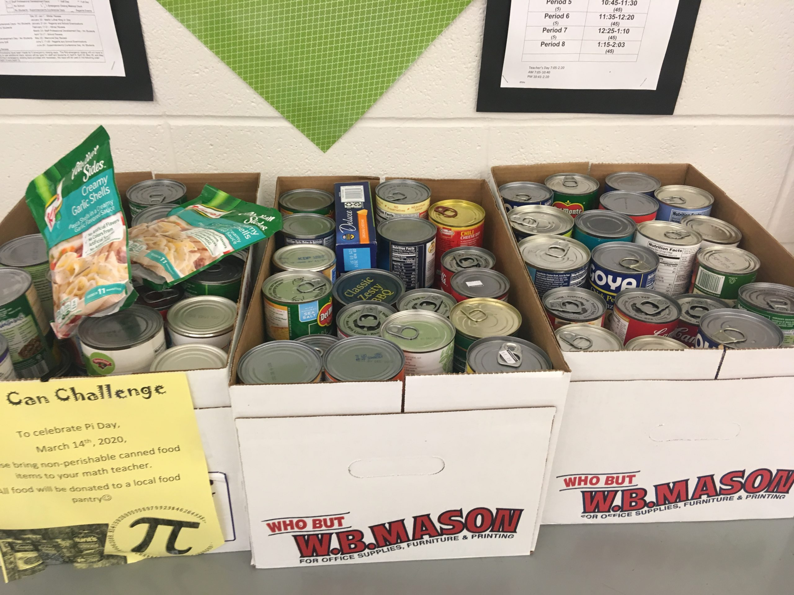 Pi Day food donations