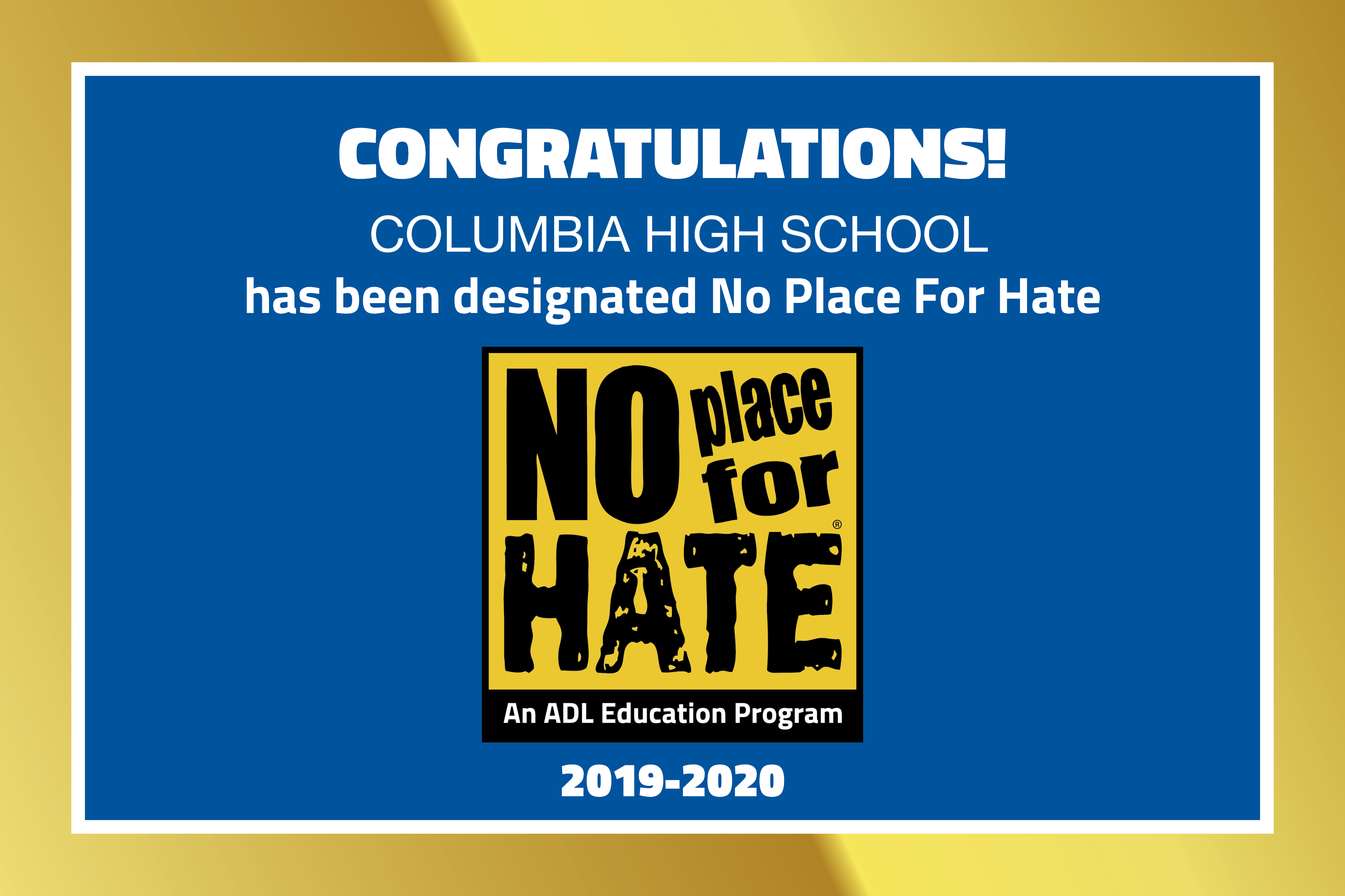 CHS No Place for Hate image