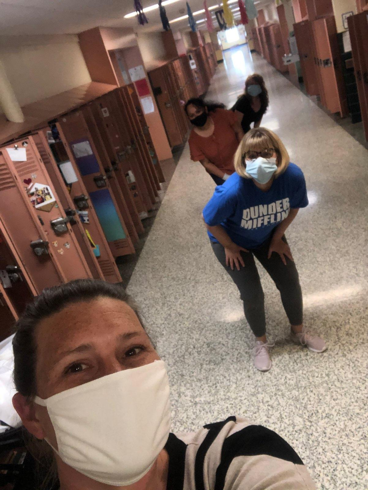 Goff Staff cleaning out lockers