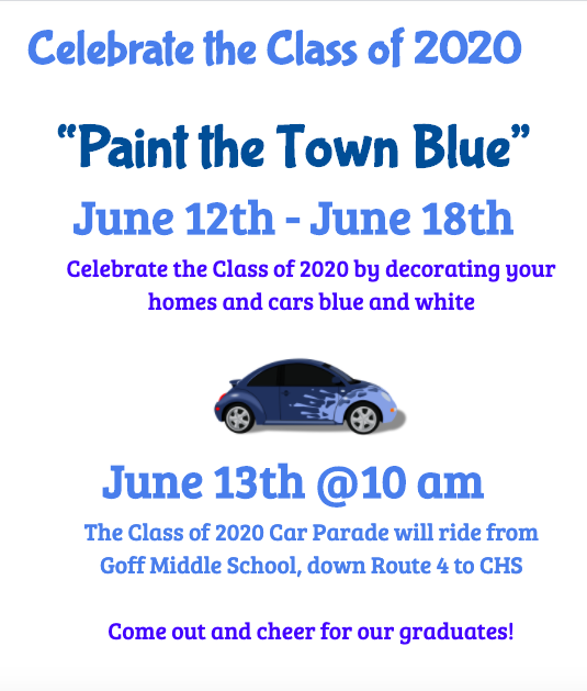 Paint the Town Blue flyer