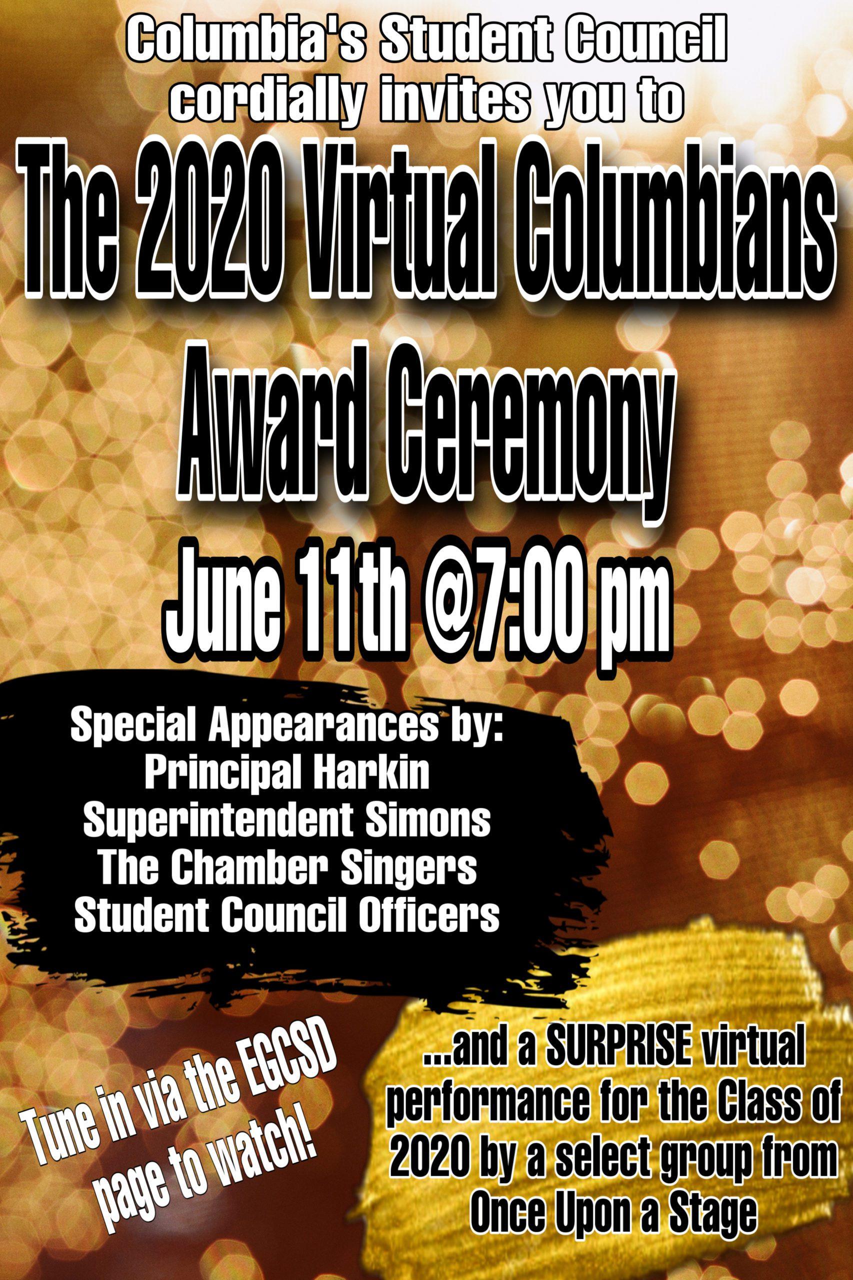 Virtual Columbian Awards poster