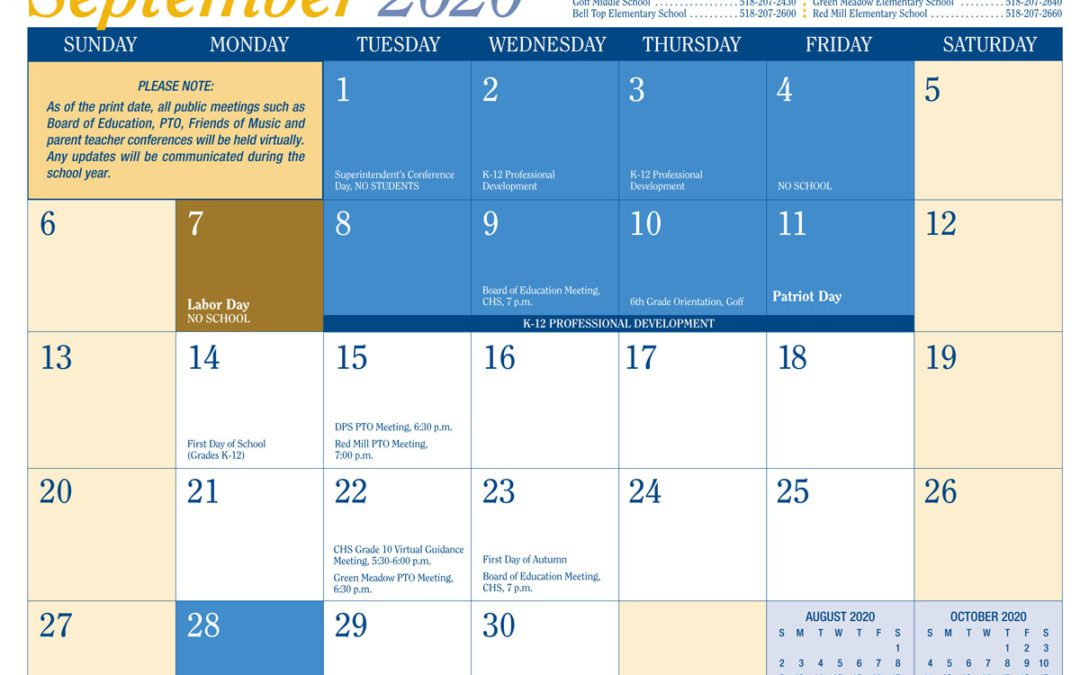 District Announces Calendar Changes and Adopts Remote Learning for Snow Days