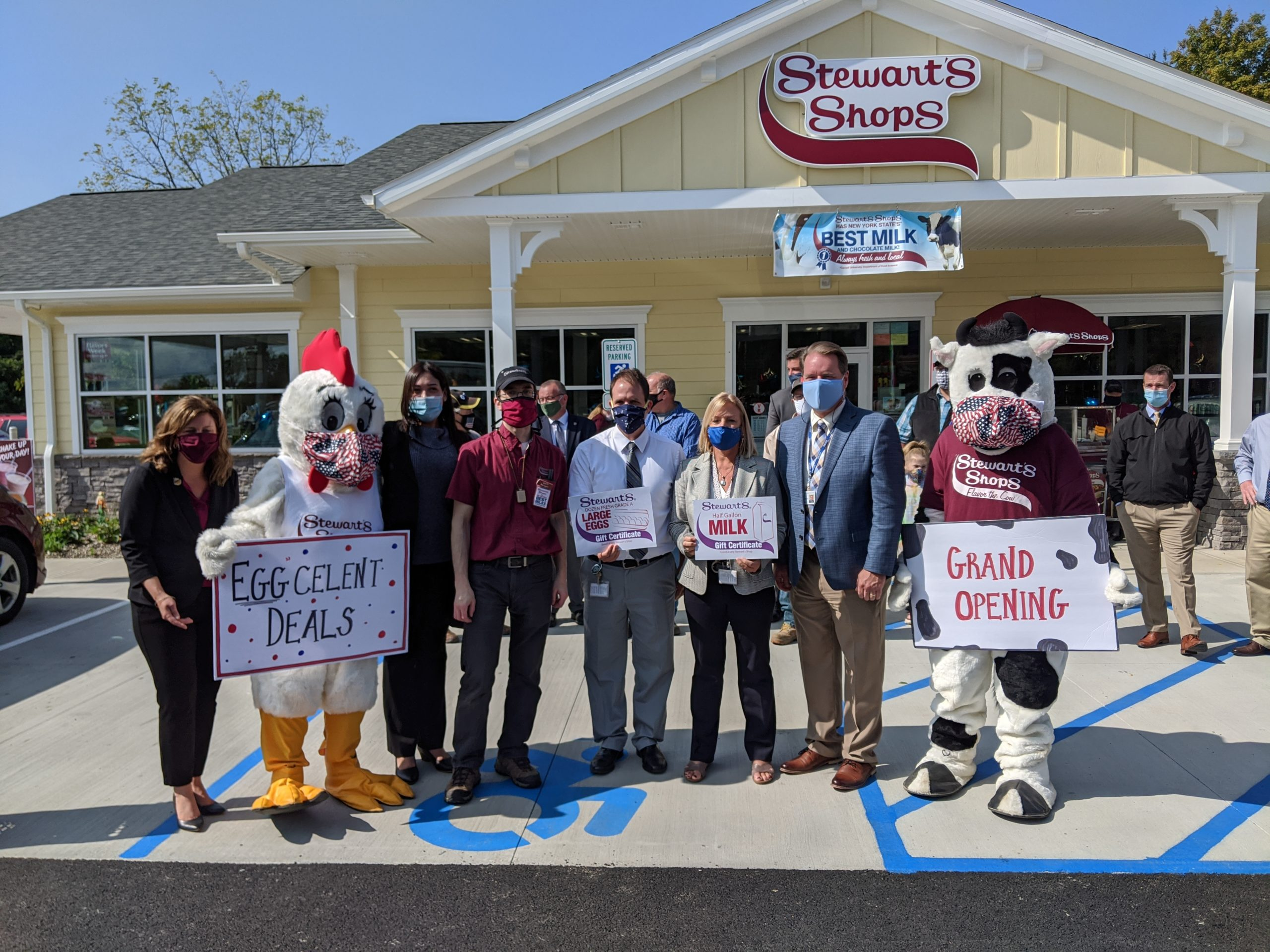 East Greenbush CSD staff at Stewart's Shops grand opening