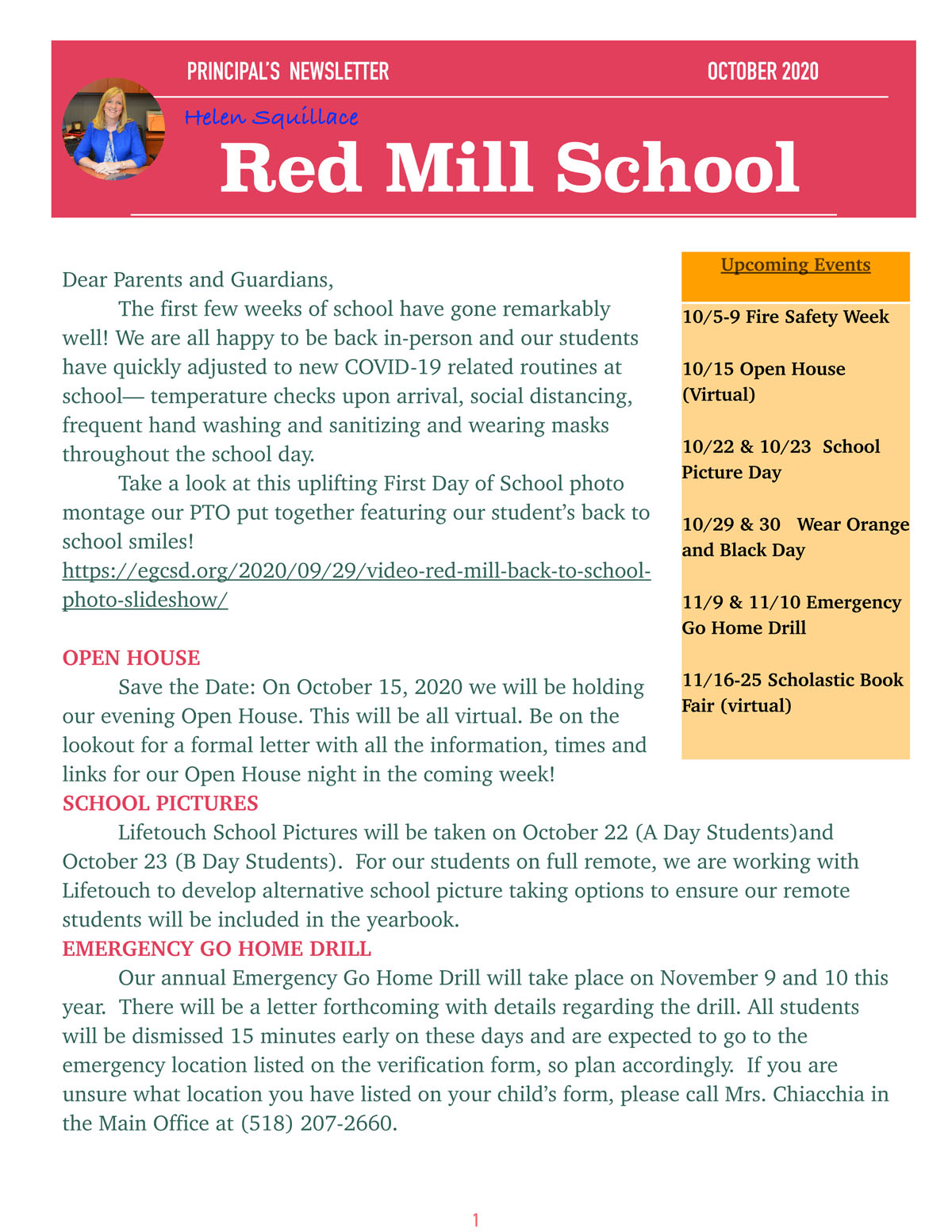 Red Mill Newsletter - October 2020
