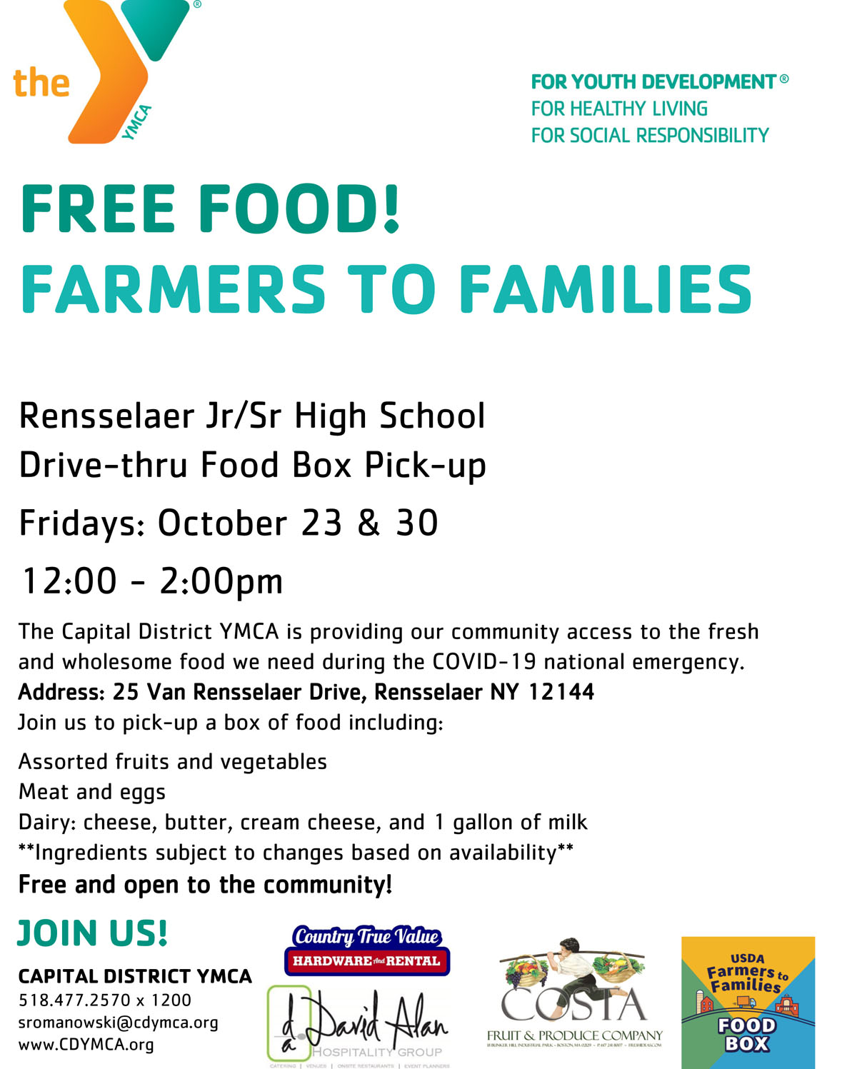 Rensselaer Farmer to Families New Location