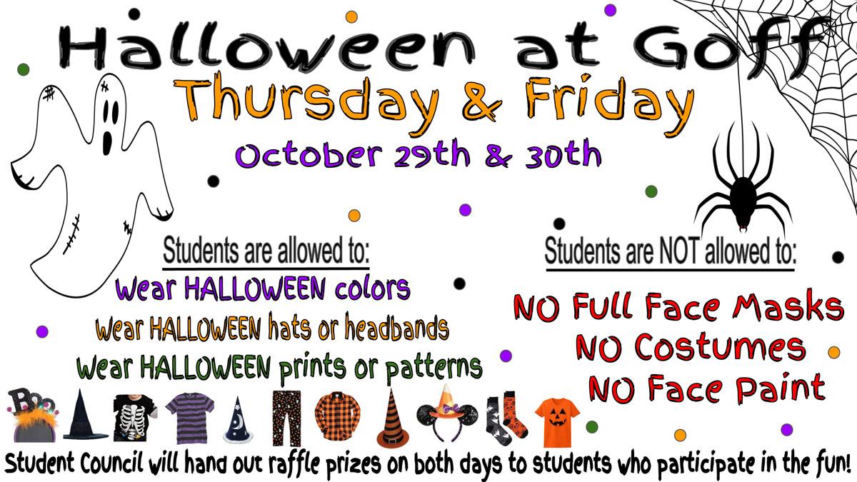 Goff Halloween Flyer